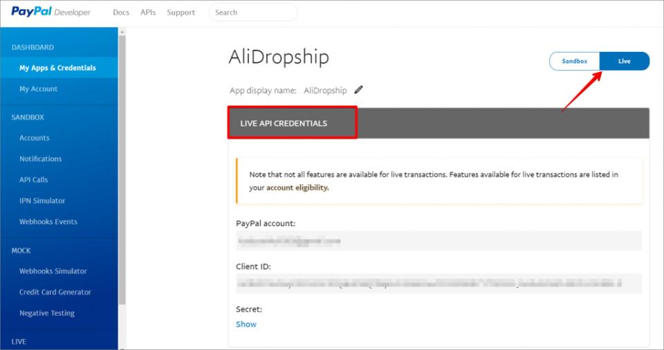 Hướng dẫn AliDropship – Kết nối tài khoản Paypal (P15)